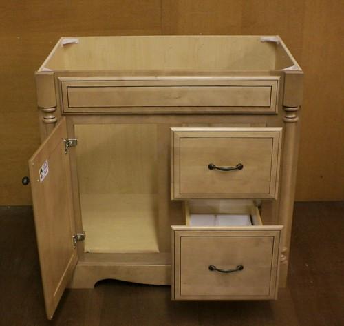 "Grand Bay Kraftmaid Bathroom Vanity Cabinet 2-36=72"""