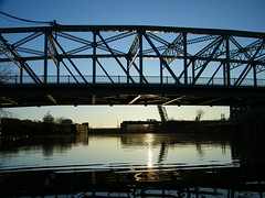 South Park Sunset, Buffalo River (stvc77) Tags: bridge lift buffaloriver southparkavenue