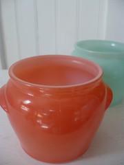 Glasbake vintage honey pots (Doris Force) Tags: glasbake