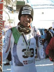 Médaille d'argent en descente aux championnats du monde à Sestrière