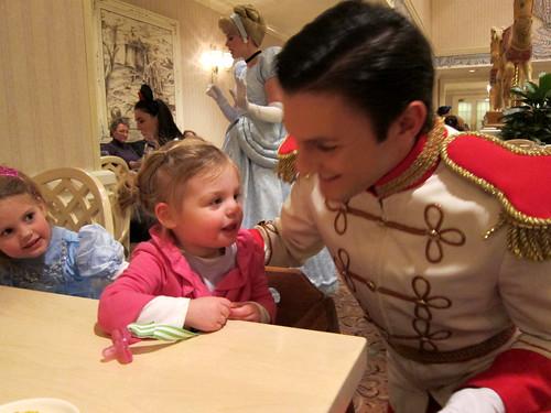 Zoe flirts with Prince Charming