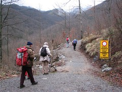 Verso la foce delle Porchette (Emanuele Lotti) Tags: italy mountain alps trekking strada italia 9 tuscany monte toscana alpi montagna gennaio apuane croce divieto apuan 2011 foce escursionismo porchette