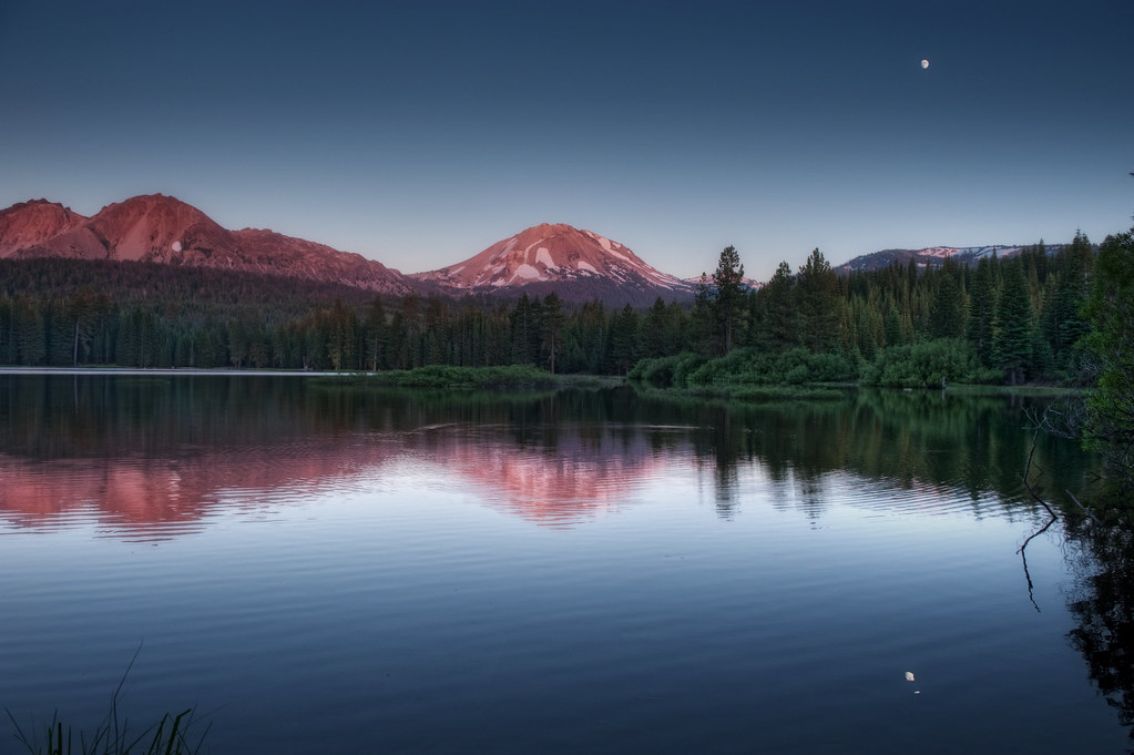 Last light on lassen