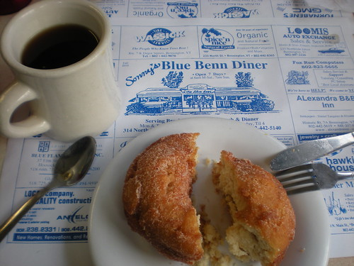 Blue Benn Diner coffee and doughnut
