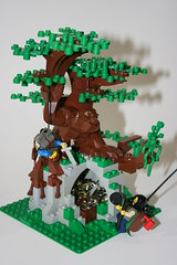 Forest Attack! (Siercon and Coral) Tags: tree castle forest lego harrypotter lotr willow ent moc afol whomping forestman forestmen