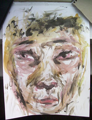 Face 4 (elinwinblad) Tags: portrait art strange face ink watercolor bristol eyes fineart elin fingerpaint winblad swedishartist