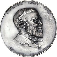 Silver Carnegie Hero Medal obverse