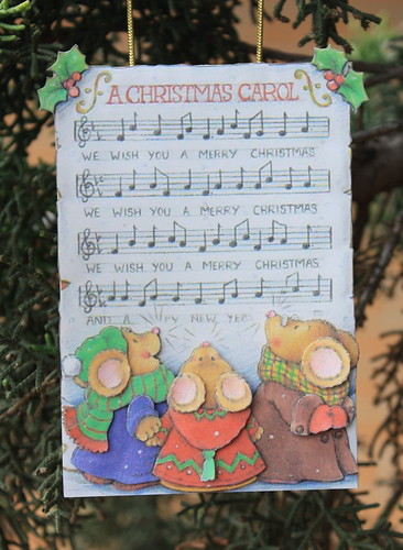Mouse Christmas Carol Paper Tole