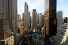 Midtown Manhattan Morning, New York City (andrew c mace) Tags: above nyc newyorkcity morning roof urban newyork rooftop skyline cityscape manhattan stpatrickscathedral rockefellercenter wideangle tokina1224 aerial midtown palacehotel gebuilding 27thfloor photomatix newyorkpalace colorefex nikoncapturenx nikond90