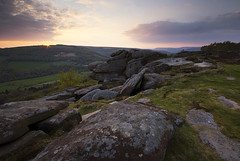 Spring Evening on Froggatt Edge (andy_AHG) Tags: sunset rural outdoors evening spring rocks derwentvalley derbyshire peakdistrict scenic moors pennines darkpeak britishcountryside northernengland froggattedge landscapephotography beautifullandscapes easternedges