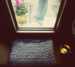 Crochet baby blanket, brown and blue (_Giorgia) Tags: crochet crochetblanket crochetbabyblanket brown blue theorangedandelion
