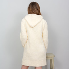 Layla - Boucle Hoodie Dress - Whisper White (Bedroom Athletics) Tags: womens layla boucle hoodie dress whisper white by bedroom athletics relaxed fit front pouch pocket pom drawstring hood branded suede logo patch bedroomathletics bed room warm buy lovely lady woman warmth lush nice gift new comfy cosy indoors chillout fur faux designer custom made special fabric comfortable