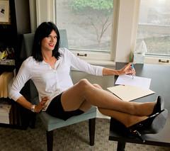 Sitting Pretty 3 (Hannah McKnight) Tags: tgirl transgender transgirl model crossdress crossdresser stilettos skirt