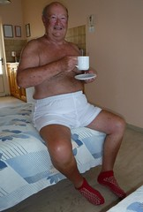 A Mug of Tea in Room 14 (pj's memories) Tags: shorts surridge rugbyshorts mensshorts commando tea mug