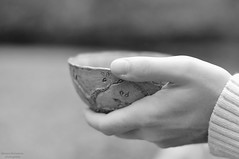 A hand (VelannaRay) Tags: bw hands tea nature inner landscape calmness mood outdoor monochrome warm people