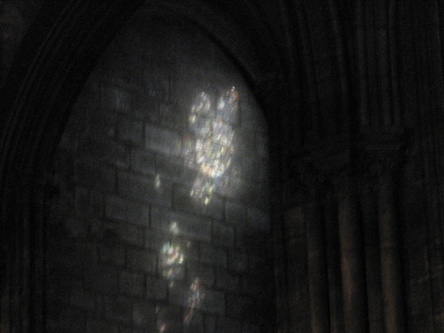 Light Against Church Wall
