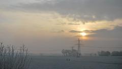 Winter in Friesland (Mariska de Groot) Tags: winter sky sun dutch clouds landscape frozen bevroren wolken lucht zon friesland landschap rijp