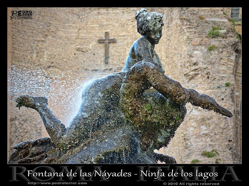 Roma - Fuente de las Náyades - Ninfa de los lagos