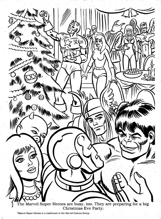 marvel christmas coloring00005