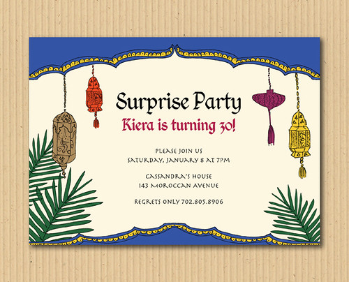 *  Moroccan Invitation Party Design - DIY Printables