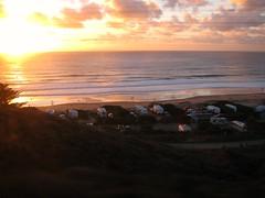 Sundown on the California coast (Dan_DC) Tags: ocean california ca camping sunset beach twilight sundown image horizon stock shoreline scenic pacificocean coastal license coastline recreation rv westcoast trailers rf californiacoast fon campers imagebank rvs royaltyfree wildbeauty