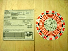AD&D Fighting Wheel Game Aid #1 - Back (alhazared) Tags: game gaming add rpg roleplay accessory gameaid fightingwheel