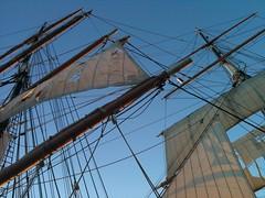 Ghost Ship Skyward (Robert Glen Fogarty) Tags: halloween sandiego sailingship starofindia ghostship maritimemuseumofsandiego ironship shawsavillline sailinglife ramseyshipyard raggedsails