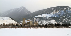 Lafarge Cement Plant, Lac des Arcs (zeesstof) Tags: lake snow canada mountains alberta limestone quarry lafarge frozenlake exshaw cementplant lacdesarcs transcanadahighway1 canoneos7d canon18135is zeesstof