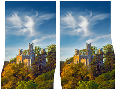 Schloß Eckberg in Dresden :: Hyper Stereoscopic Cross Eye 3D :: (Stereotron) Tags: 3d 3dphoto 3dstereo 3rddimension spatial stereo stereo3d stereophoto stereophotography stereoscopic stereoscopy stereotron threedimensional stereoview stereophotomaker stereophotograph 3dpicture 3dglasses 3dimage crosseye crosseyed crossview xview cross eye squint squinting freeview hyperstereo quietearth europe germany saxony dresden 3dframe airtightframe fancyframe floatingwindow airtight frame spatialframe stereowindow window schloss eckberg castle tudor style 1855mm kitlens canon eos 550d sidebyside sbs kreuzblick sigma lens 70300mm zoom 100v10f