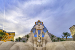 The Luxor - Las Vegas (Mister Joe) Tags: sphinx hotel nikon pyramid lasvegas nevada joe casino resort egyptian thestrip dynamicrange luxor hdr placesofinterest architectureandstructures