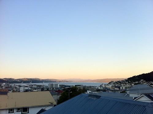 Wellington evening sky