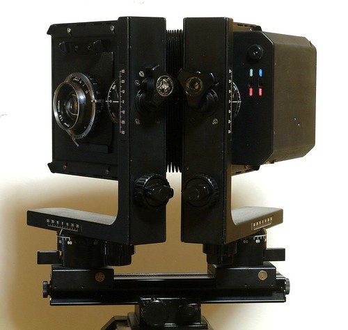 Installation on 4×5 technical camera