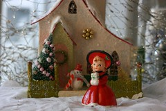 A little bit of Christmas... (The Dolly Mama) Tags: christmas house snow girl vintage ceramic