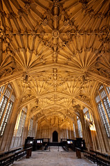 Lessons in love (archidave) Tags: school college architecture fan university room gothic medieval symmetry oxford vault divinity schoolofdivinity withlawerceop