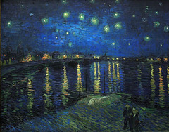 Starry Night over the Rhone(Van Gogh)