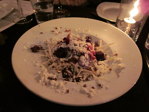 Ludobites 6.0 (at Max), Sherman Oaks, CA - December 2010 - Beef Tartar, Celery Root Remoulade, Red Port, Foie Gras Power
