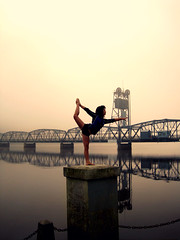 Bridge (Diana Albrecht33) Tags: selfportrait sunrise gymnastics stillwater liftbridge