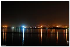 Syracuse - Always on (ciccioetneo) Tags: light italy night reflections 50mm nikon italia shot syracuse sicily nikkor sicilia siracusa ortigia ciccioetneo