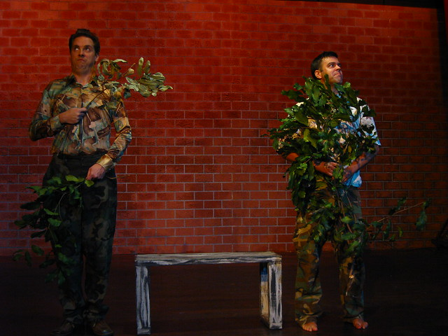 Shrub (Eric Curtis Johnson) and Bush (Gregory Guy Gorden), foliage in love.