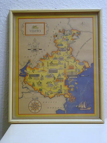 framed Italian province map,