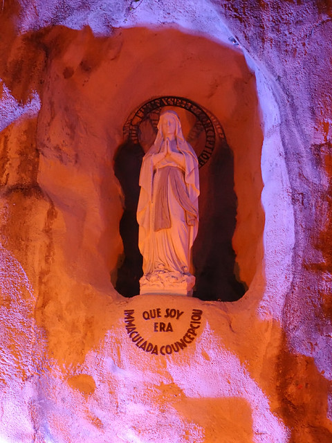 National Shrine of Our Lady of the Snows, in Belleville, Illinois, USA - Statue of the Blessed Virgin Mary in the Lourdes Grotto