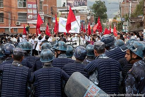 maoist protest communist