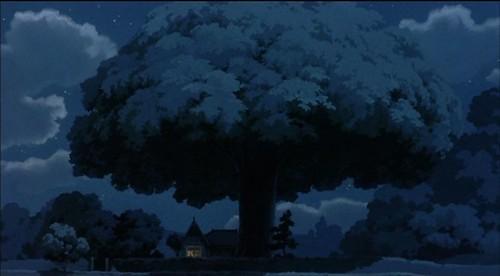 totoro tree dwarfs house