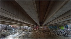 Under the QEW, Beside The Forty - HDR (jwvraets) Tags: creek nikon gimp hdr luminance grimsby qew d5000 qtpfsgui theforty queenelizabethqay