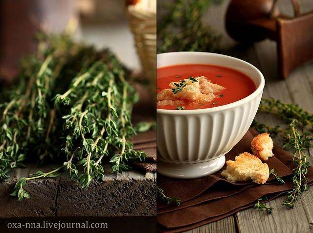 Томатный суп.