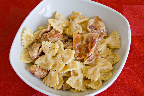 Farfalle with Bacon, Onion, and Gouda - 5