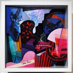 New City - shadow box - 43x43 (Eden Fine Art Gallery, Mamilla , Jerusalem) Tags: art fineart painter polyester fiberglass sculptures sculptor windowpainting softpainting jerusalemartgallery calmanshemi edenmamilla
