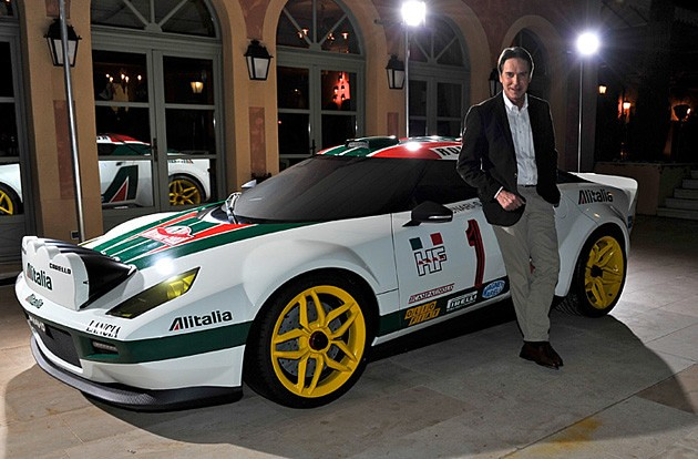 NEW STRATOS PRESS REVEAL WITH A ALITALIA MOCK UP