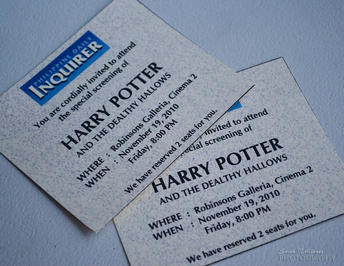 Harry Potter Movie Ticket