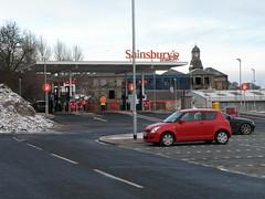 Big Clearance (cessna152towser) Tags: mill garage clocktower sainsburys petrolstation hawick